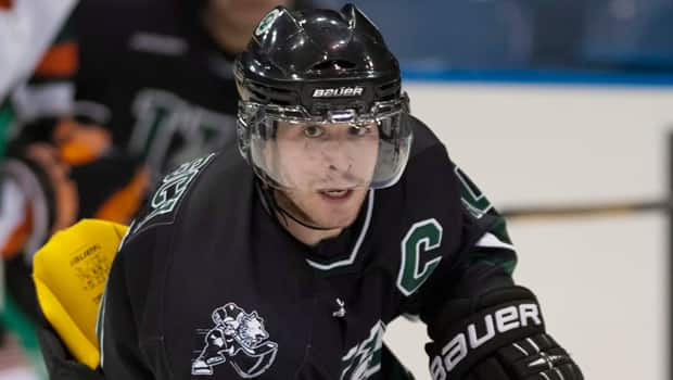 Former WHL forward Brennan Bosch is captain of the host University of Saskatchewan Huskies in the 2014 University Cup. (Liam Richards/Canadian Press)