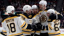 Zdeno Chara, second from right, and the Boston Bruins have won 12 games in a row, their hottest run since the days of Orr. (Eric Bolte/Reuters).