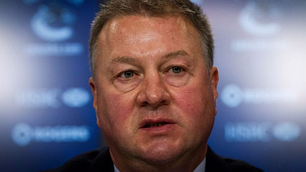 Vancouver's Mike Gillis was one of the NHL execs in attendance at this week's GMs meetings in Florida. (Darryl Dyck/Canadian Press)