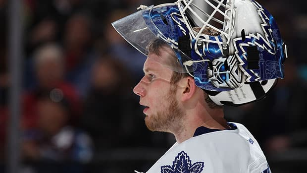 James Reimer was pulled after allowing all three goals in a 3-2 loss to New Jersey on Sunday night. (Doug Pensinger/Getty Images)