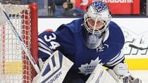 James Reimer doesn't seem happy in Toronto, but he'll need to improve his performance in order to attract interest from other teams. (Claus Andersen/Getty Images)