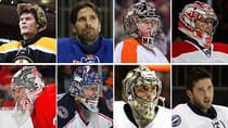 The eight goaltenders that will lead their Eastern Conference teams into the Stanley Cup playoffs. (CBCSports.ca/Getty Images)