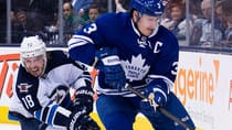 Maple Leafs defenceman Dion Phaneuf doesn't believe the Jets outworked his team on Saturday, a sentiment not shared by many of his teammates who preferred not to address the subject on Monday, according to CBCSports.ca's Mike Brophy. (Nathan Denette/Canadian Press)