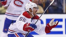 Canadiens defenceman Francis Bouillon has battled long odds for much of his professional hockey career. That perseverance has paid off at various times, including Thursday night when Bouillon scored to give his team a 3-2 lead in an eventual 4-3 double-overtime victory against Boston. (Jared Wickerham/Getty Images)