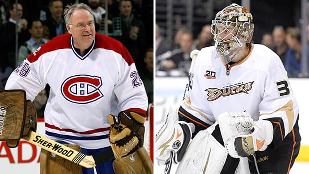 Ken Dryden won the Stanley Cup in 1971 with the Montreal Canadiens, his first season with the team. John Gibson will aim to follow the same path as Hockey Hall of Fame goalie, after he helped his Ducks blank the Kings in Game 5. (Canadian Press/Getty Images/CBCSports.ca)