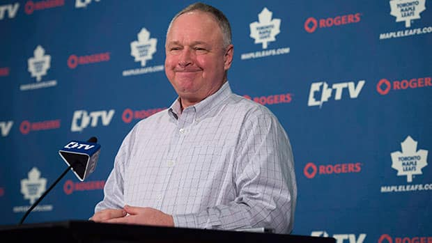 Toronto Maple Leafs head coach Randy Carlyle won't have sole approval on the new assistant coaches, whoever they are. (Darren Calabrese/Canadian Press)