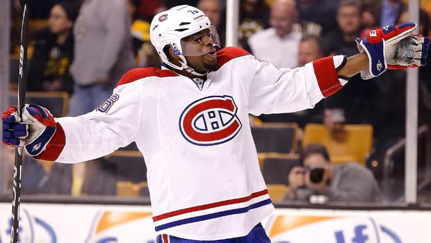 P.K. Subban and the Montreal Canadiens renew their Original Six rivalry with the Boston Bruins in one of two Eastern Conference quarter-finals to be broadcast nationally on Hockey Night in Canada.  (Jim Rogash/Getty Images)
