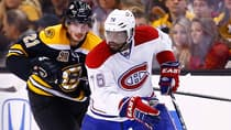 P.K. Subban (76) of the Montreal Canadiens leads all NHL defencemen with four goals and 12 points in 10 post-season games. (Jared Wickerham/Getty Images)