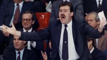 Former NHL head coach Pat Burns, shown here in 1989, is a three-time coach of the year winner. (Shaney Komulainen/Canadian Press)