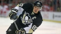 Pittsburgh Penguins captain Sidney Crosby led the NHL with 104 points, including 36 goals, in 80 games during the regular season, but he disappointed with just one goal and nine points in 13 playoff games thereafter. (Leon Halip/Getty Images)