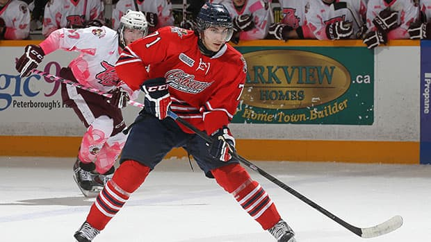 Michael Dal Colle scored 39 goals and 95 points this season for the OHL's Oshawa Generals. (Claus Andersen/Getty Images)
