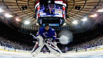 New York Rangers netminder Henrik Lundqvist (30) locks in prior to puck drop for Game 3 of the Stanley Cup final on Monday. (Bruce Bennett/Getty Images)