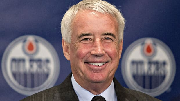 Bob Nicholson was named Friday as the vice-chairman of Oilers Entertainment Group, a new sports entertainment company that will oversee the NHL team. (Jason Franson/Canadian Press)