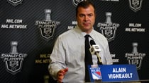 Alain Vigneault of the New York Rangers is one of 10 coaches to reach the Stanley Cup final with two or more different teams. (Elsa/Getty Images)