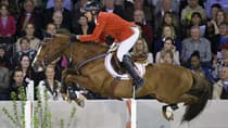 Rich Fellers of the United States likely locked up an Olympic berth aboard Flexible at Spruce Meadows this past weekend. (Dirk Caremans/Getty Images)