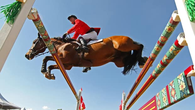 Ian Millar is one of the riders nominated for Canada's Olympic show jumping team in London, England. (Al Bello/Getty Images)