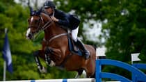 American Rider Richard Spooner currently sits in fourth place on the top money winners list at Spruce Meadows. (Dennis Grombkowski/Bongarts/Getty Images)
