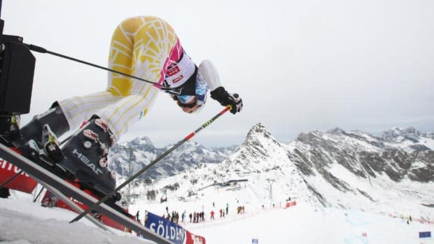 Lindsey Vonn is among the ski racers launching the new season this weekend on the picturesque Rettenbach Glacier in Austria. (Alexander Hassenstein/Bongarts/Getty Images)