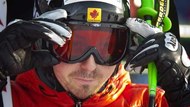 Canada's John Kucera, the 2009 downhill world champion, is set to return from a horrific leg injury on the same Lake Louise mountain on which he was hurt two years ago. (Jeff McIntosh/Canadian Press)