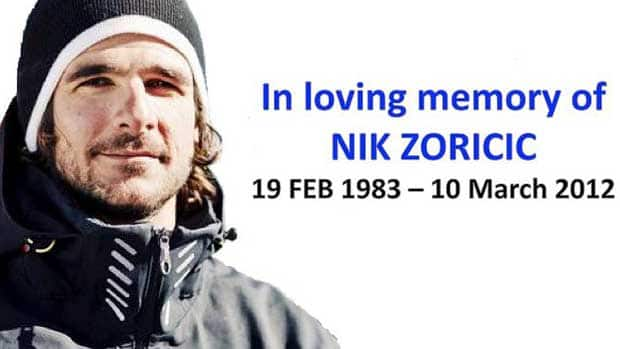 Nik Zoricic died from head injuries suffered in a crash during a World Cup skicross race in Switzerland on March 10. Here, fellow skiier Kelly Vanderbeek remembers her friend.