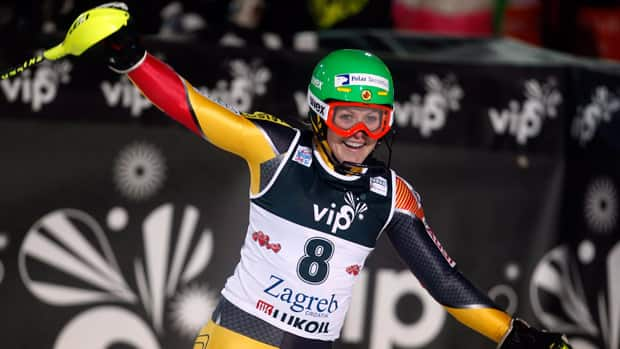 Erin Mielzynski, of Guelph, Ont., is Canada's fastest rising skiing star. (Darko Bandic/Associated Press)