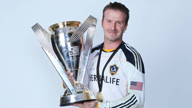 David Beckham of the Los Angeles Galaxy poses for a portrait following the 2011 MLS Cup at The Home Depot Center on Sunday in Carson, California. (Jeff Gross/Getty Images)
