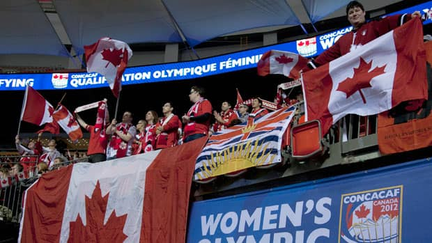 Canada received plenty of positive vocal support at BC Place as they opened the CONCACAF Olympic women's qualifying tournament in Vancouver Thursday, but as for the greeting they'll give Canadian-born American Syndey Leroux, well, that's another story. (Jonathan Hayward/Canadian Press)