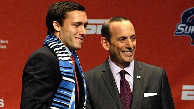 It may be a while before Canadian university soccer stars hear their names called at the MLS SuperDraft like Montreal Impact No. 1 pick Andrew Wenger of Duke, but doors are opening for a professional career after their post-secondary careers. (Jamie Squire/Getty Images)