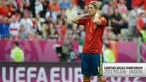 With his confident swagger of yesteryear gone, the involvement by Spain forward Fernando Torres in Euro 2012 may be severely limited. (Pierre-Philippe Marcou/Getty Images)
