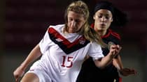Vanessa Legault-Cordisco (15) and Team Canada are tied for second in Group C with Norway at the U-20 Women's World Cup. (Arnulfo Franco/Associated Press)
