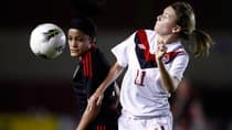 Forward Jenna Richardson, right, will garner much of the attention up front for Canada during the women's Under-20 World Cup. (Arnulfo Franco/Associated Press)