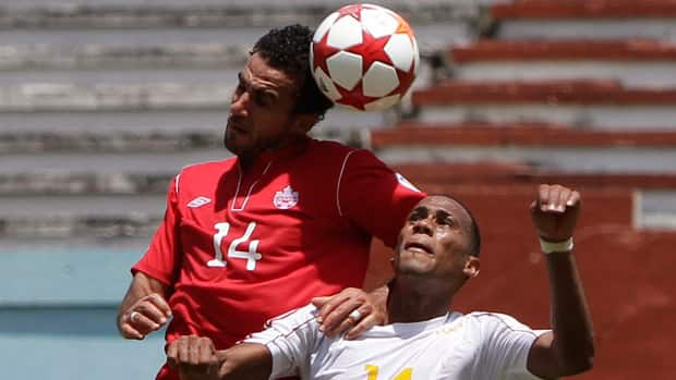 Even without the injured Dwayne De Rosario, left, Canada should have enough offence to get by lowly Cuba on Friday night in Toronto. (Franklin Reyes/Associated Press)