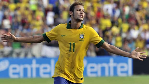 Mighty Brazil has slipped in the FIFA rankings, but it may have soccer's next big thing in 21-year-old striker Neymar. (Aizar Raldes/AFP/Getty Images)