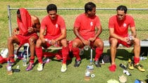 Tahiti players take a break during an away friendly against Sydney FC in February. (Brendon Thorne/Getty Images)
