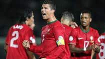Portuguese superstar Cristiano Ronaldo is one of the world's most gifted scorers, but he can't do it all by himself, according to Nigel Reed. (Peter Muhly/AFP/Getty Images)