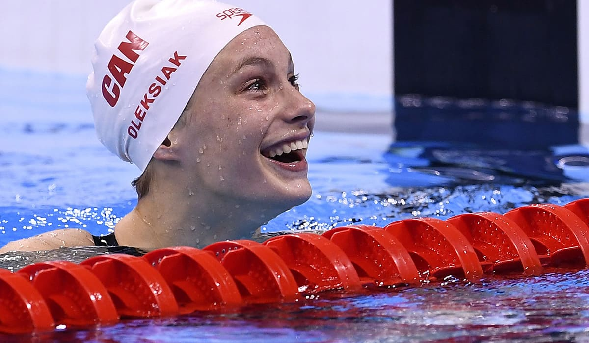 Penny Oleksiak: Canadian athlete of the year