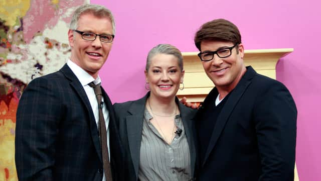 Michelle Mawby with Steven and Chris