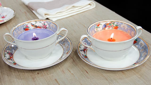 3 Ways to Repurpose China: Teacup Candles