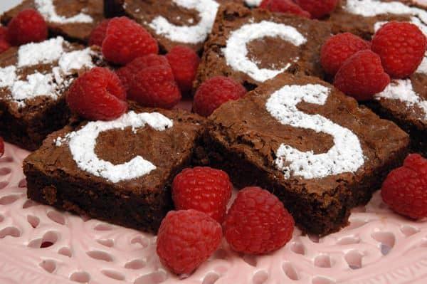 Chocolate velvet brownies.