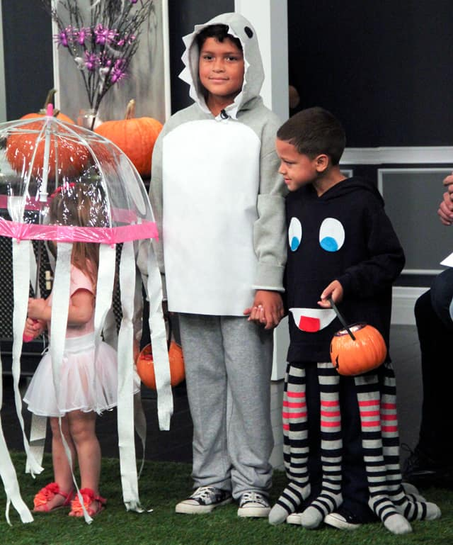 DIY shark and octopus costumes