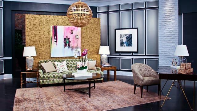 A luxury room created by Lisa Worth.
