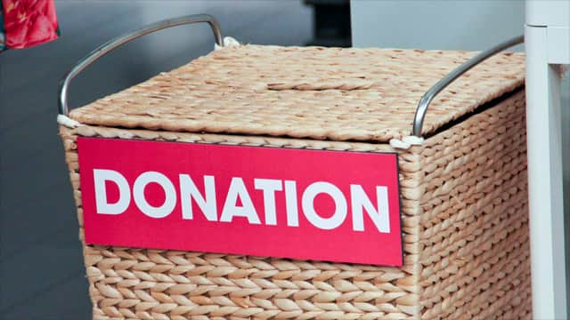 Donate the leftovers from your clothing swap to an organization of your choice