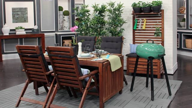 Affordable summer outdoor decor from ikea steven and chris for Outdoor decorating hacks