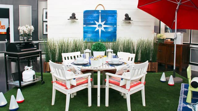 Cottage nautical outdoor patio