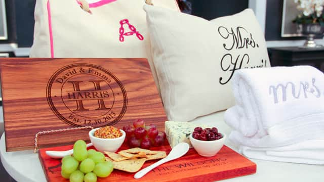 Personalized wedding gifts from Etsy