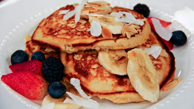 Joy McCarthy's coconut flour banana pancakes are one of her favourites!