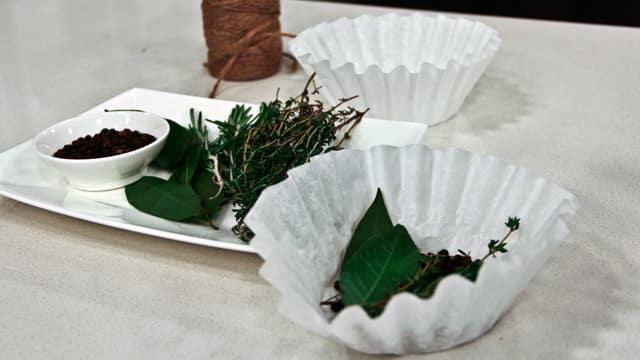 Make a Bouquet Garni with a Coffee Filter