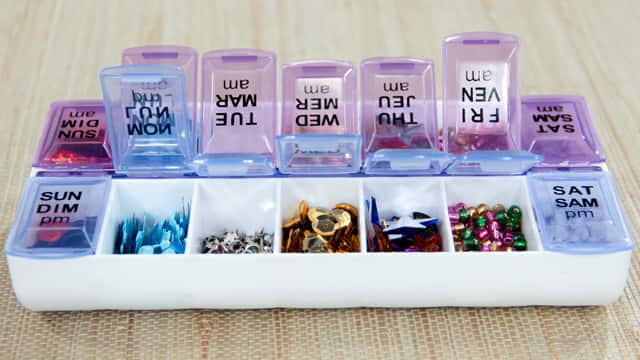 Pill Boxes to Store Small Supplies