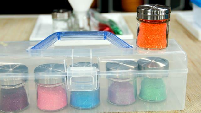 Mini Salt Shakers as Glitter Dispensers