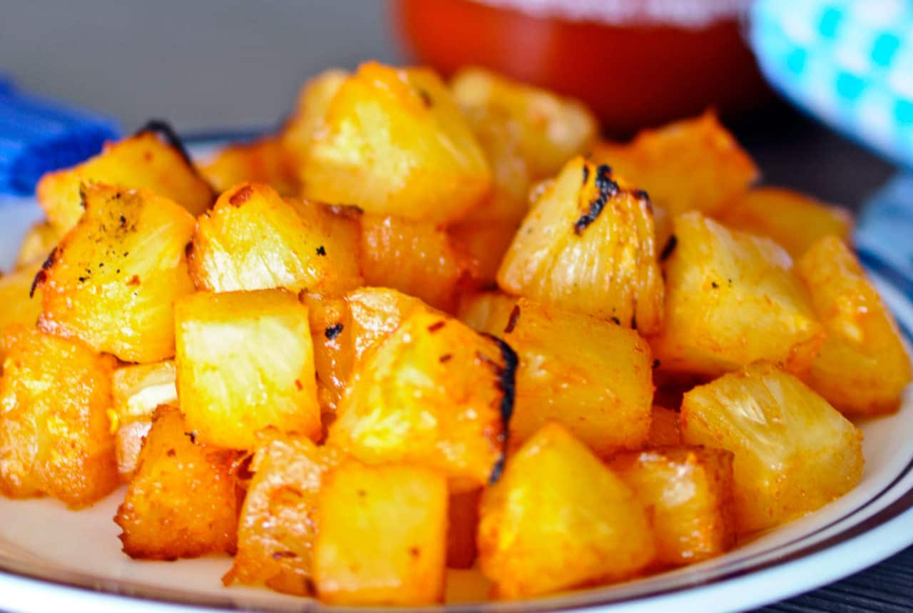 Grilled Sweet and Spicy Pineapple - Steven and Chris